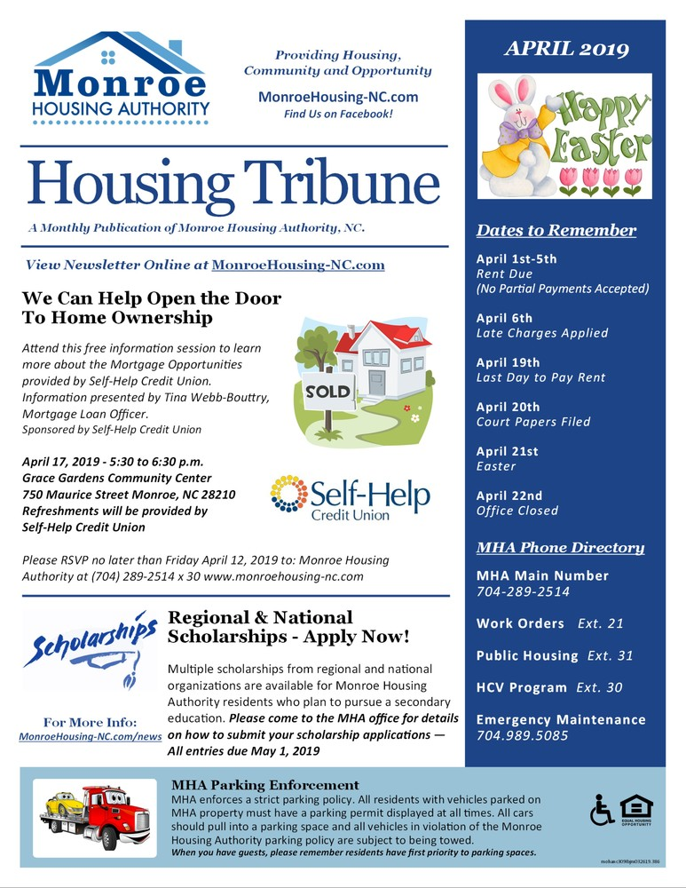 Monroe Housing Authority - Enewsletter April