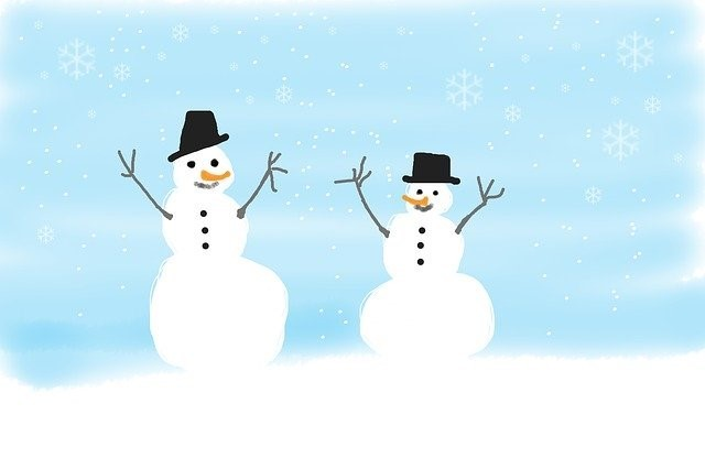 Winter Safety - Two Snowmen