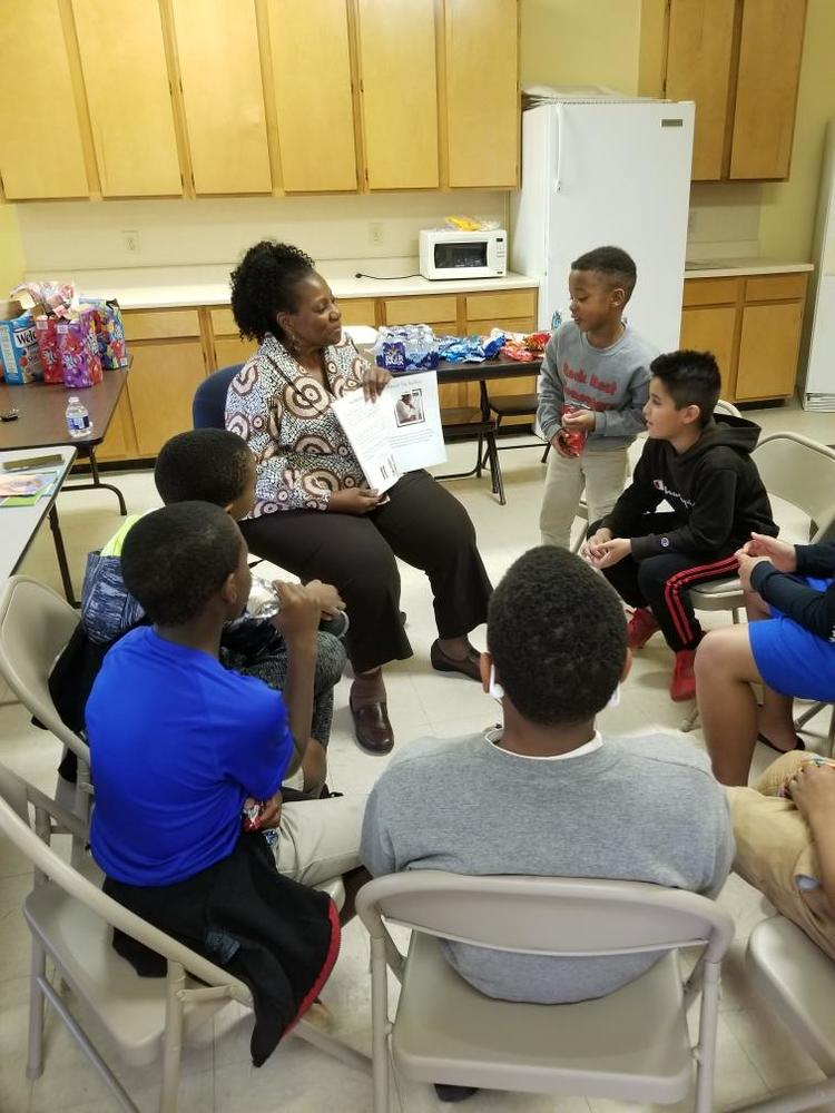 Our Willow Oaks children enjoy story time with the Executive Director.